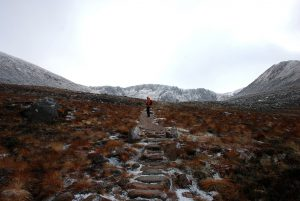 Walking-into-the-Northern-Corries-Cairngorm-Mountains